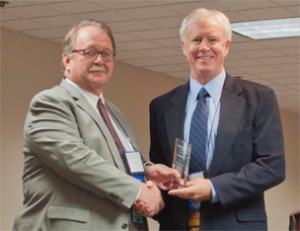 Attorney Larry Wall Accepting An Award